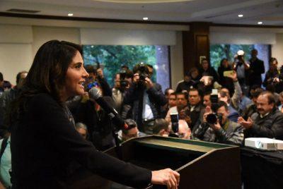 Confirman a Alejandra Barrales como candidata del Frente en la CDMX