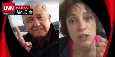Ciudadanos piden deportar a la venezolana que atacó a AMLO