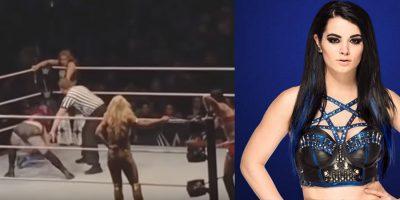 Fulminante patada termina con la carrera de la luchadora Paige (VIDEO)