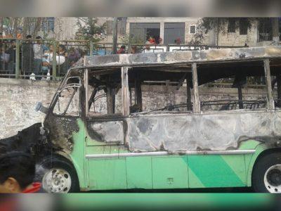 Asesinan a chofer y queman su camión