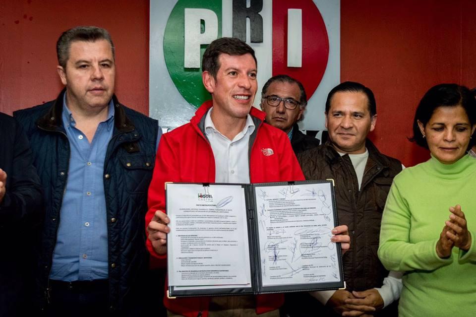 En Jalisco, candidatos priístas firman 'Pacto Metropolitano'