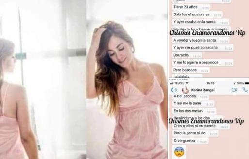 Filtran plática de WhatsApp sobre tripe infidelidad de 'amorosa' (FOTOS)