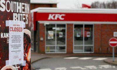 KFC deja sin pollo frito a los consumidores en Reino Unido