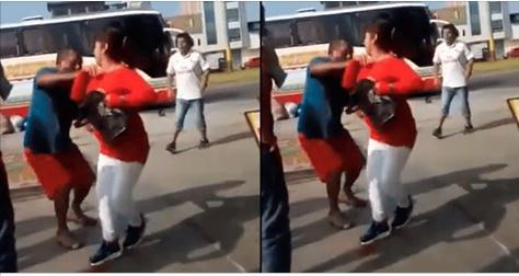 Hombre golpea brutalmente a su pareja por verla con otro hombre (VIDEO)