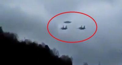 Aviones militares escoltan a supuesto OVNI en Rusia (VIDEO)