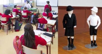 Escuela pública exige uniformes de la lujosa marca Giorgio Armani