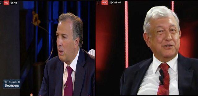 AMLO y Meade participan en entrevistas simultáneas