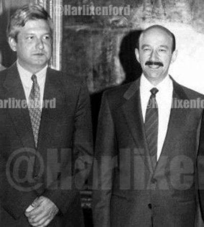 Fotografía de López Obrador y Carlos Salinas es falsa