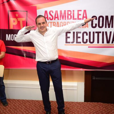 Cuauhtémoc Blanco se registra como candidato a la gubernatura de Morelos