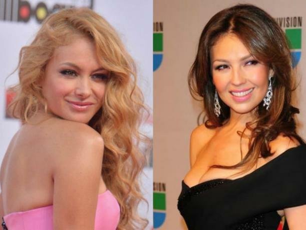 Rivalidad de Thalía y Paulina Rubio tiene nuevo episodio de escándalo (FOTOS)