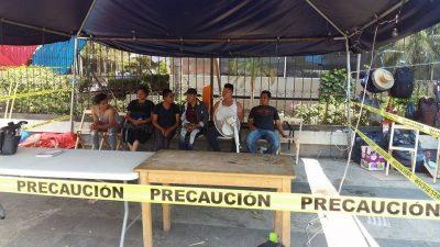 Se suman 4 jóvenes a huelga de hambre de indígenas desplazados de Chenalhó
