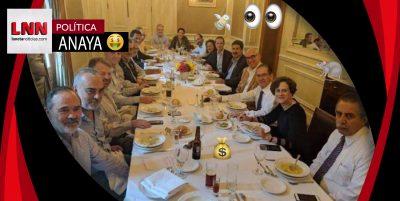 Anaya e intelectuales derrochan en Les Moustaches;señala Jalife