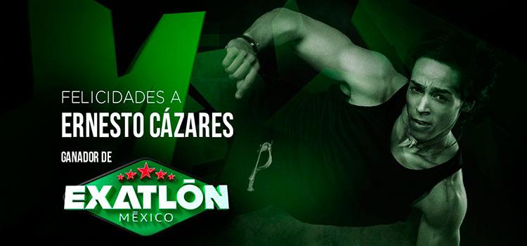Ernesto Cázares gana Exatlón México