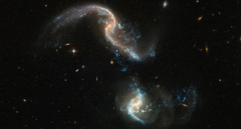 NASA presenta impresionante choque entre dos galaxias (VIDEO)
