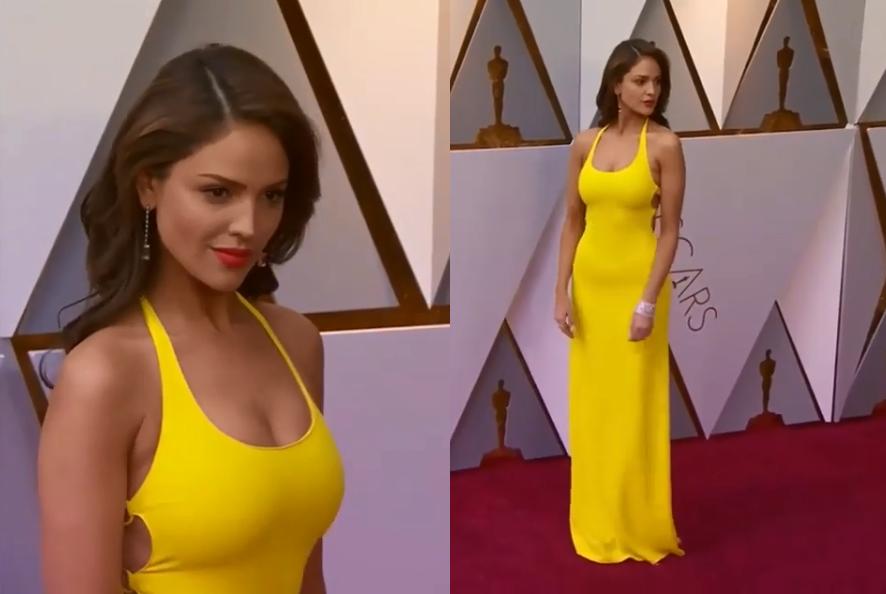 Eiza González hace tremenda revelación sobre el vestido amarillo (VIDEO)