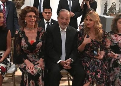 Angélica Rivera, de 'etiqueta' y en primera fila en evento de Dolce & Gabbana
