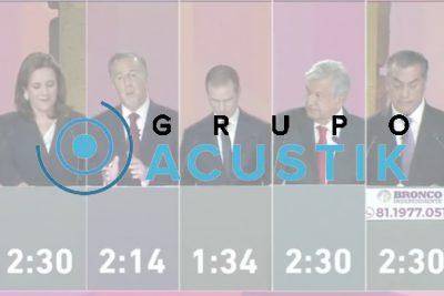 Grupo Acustik, líder en Facebook Live durante el debate