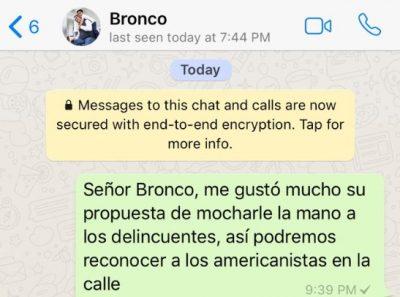 Ríete con los mensajes de WhatsApp que 'El Bronco' no contestó (FOTOS)