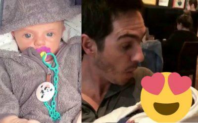 Bebé de Aislinn Derbez rompe internet con tiernos gestos (VIDEO)