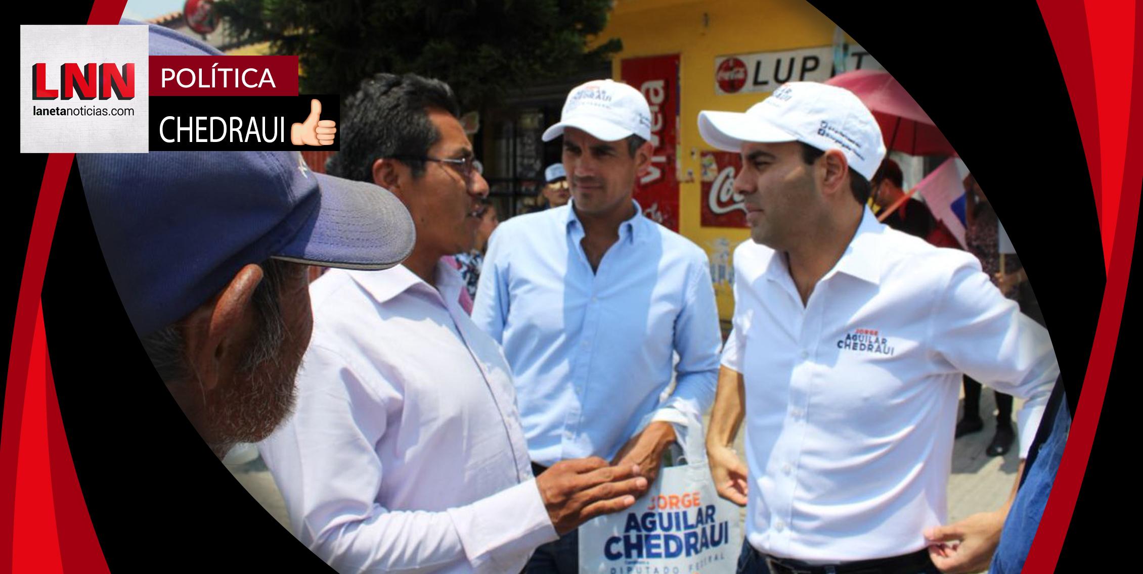 Jorge Aguilar Chedraui promete trabajar a favor de la salud y la seguridad
