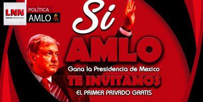 Continúa el furor en las elecciones: si gana AMLO regalarán privados