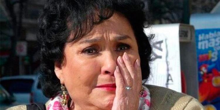 Carmen Salinas, conmovida hasta las lágrimas al recordar muerte de su hijo