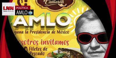 Restaurante regalará 300 filetes de pescado si AMLO gana la Presidencia