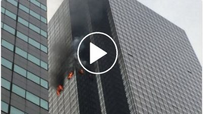 Activan alerta por incendio en la Torre Trump (VIDEO)