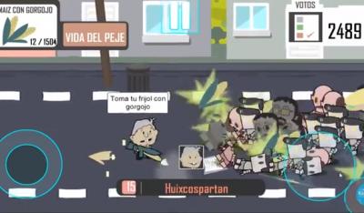 AMLO combate a la mafia del poder ¡en nuevo juego de celular!