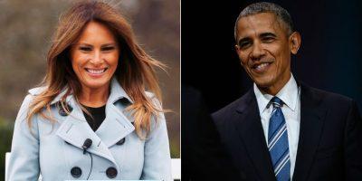 <i>Traición</i> en la Casa Blanca: Melania al fin ríe con ¡Barack Obama! (FOTO)