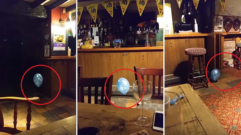 Captan a espeluznante 'niño fantasma' jugando con un globo (VIDEO)