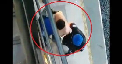 Hombre apuñala a su esposa en la estación del Metro de la CDMX  (VIDEO)
