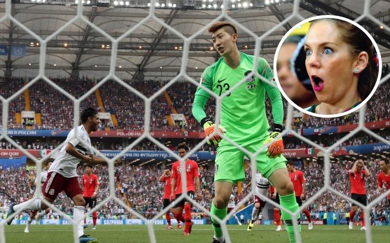 <i>¡Escalofriante!</i> Captan 'fantasma' en el partido de México contra Corea (VIDEO)