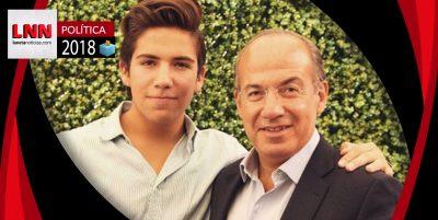 Hijo de Felipe Calderón ataca a AMLO alterando un símbolo patrio