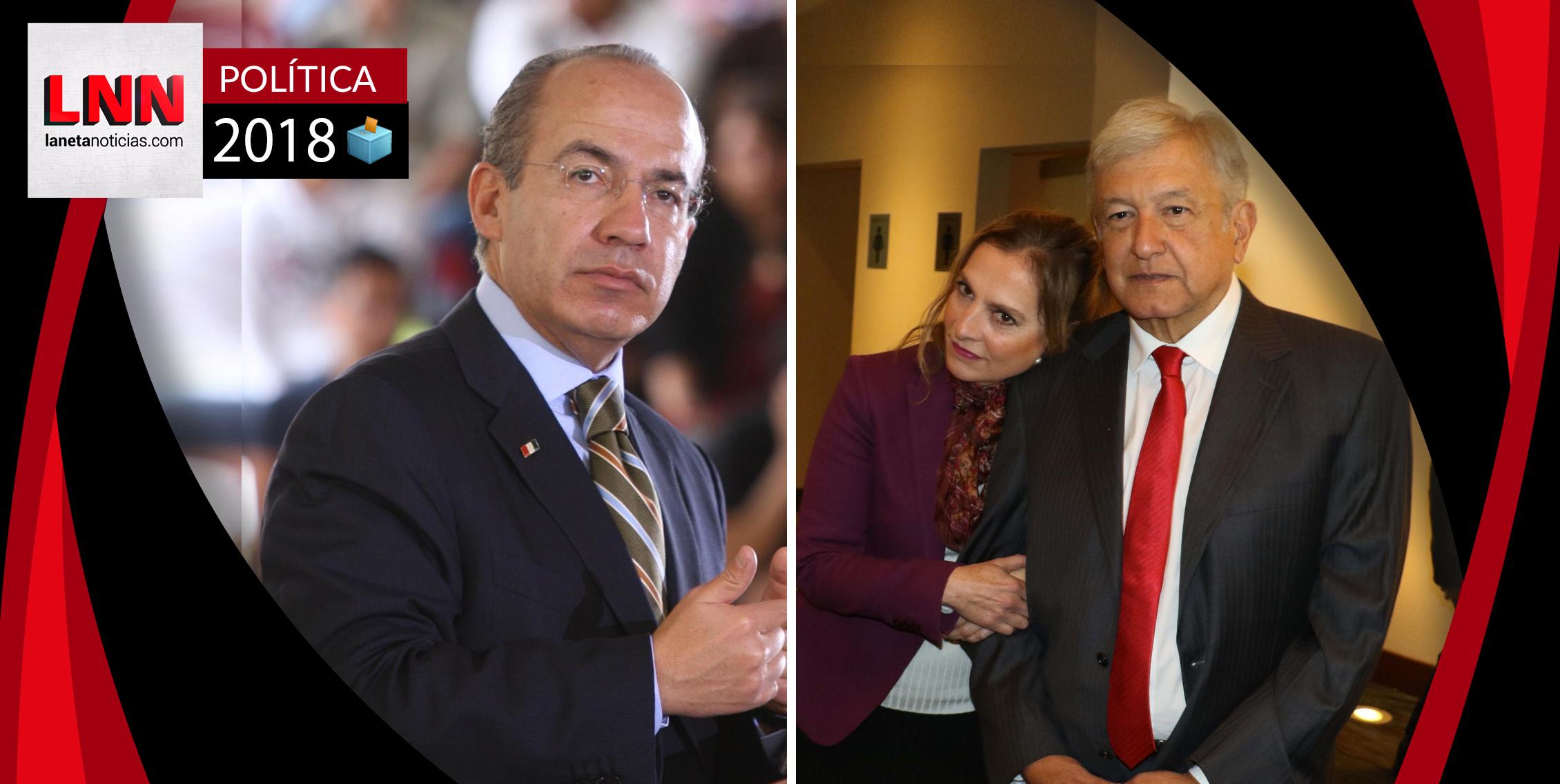 Calderón arremete contra esposa de AMLO y sale humillado por tremendo error