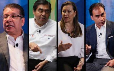 Así fue el primer y único debate entre candidatos a la gubernatura de Puebla