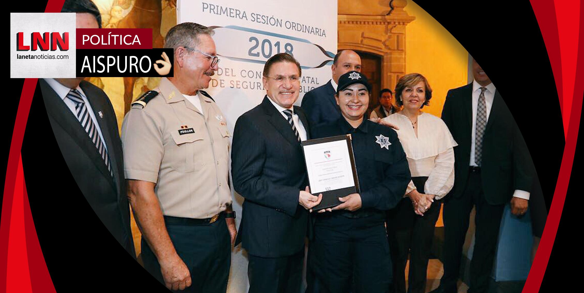 Preside José Rosas Aispuro la Sesión de Seguridad Pública 2018