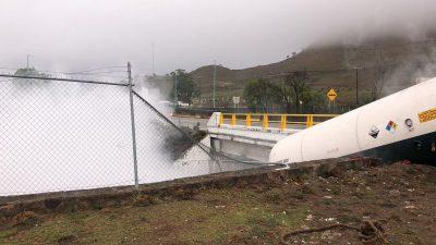 Abren de nuevo carretera Tepic-Guadalajara después de fuga de amoniaco