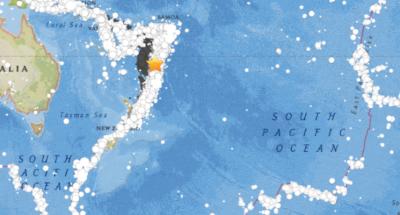 Reportan fuerte sismo que sacude al Pacífico Sur