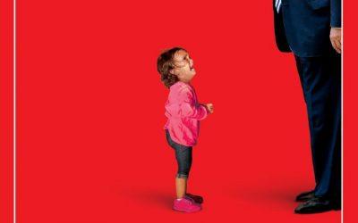 Trump aterroriza a niña migrante… en crítica portada de Time