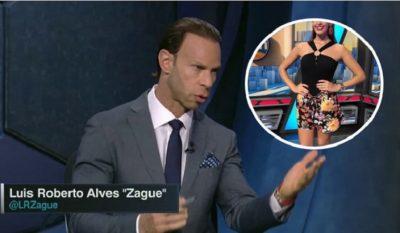 <i>¡Escándalo!</i> Zague le mandó su 'pack' a esta conductora de ESPN (FOTO)