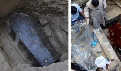 <i>¡Maldición!</i> Abren sarcófago negro en Egipto y realizan insólito hallazgo