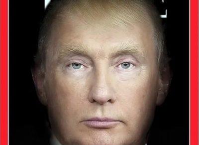 <i> ¿Uno mismo?: </i> Portada de Time fusiona a Trump y Putin y este fue el resultado