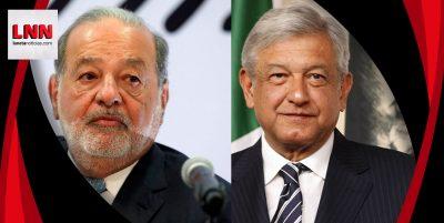 Carlos Slim felicita a AMLO y se compromete a invertir en México