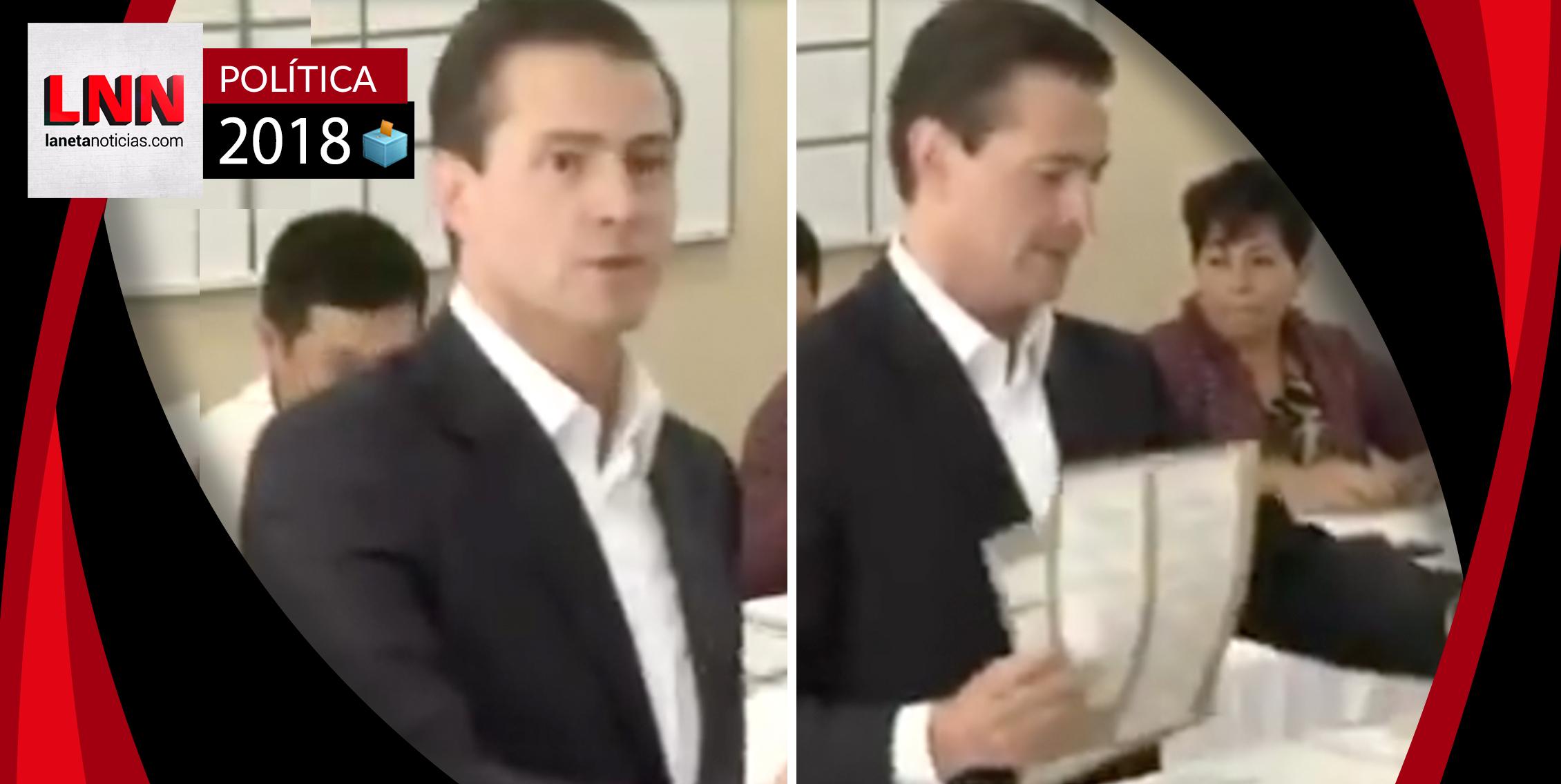 Peña Nieto se equivoca al emitir su voto y las redes estallan (VIDEO)