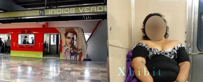 Exhibicionismo extremo en el metro: grandes damas, diminutas tangas (FOTO)