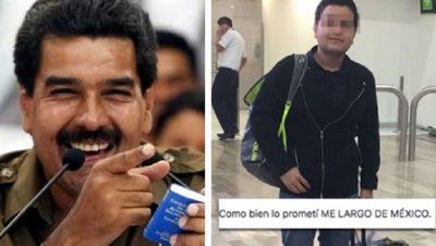 Abandona México por triunfo de AMLO; llega a país gobernado por un socialista