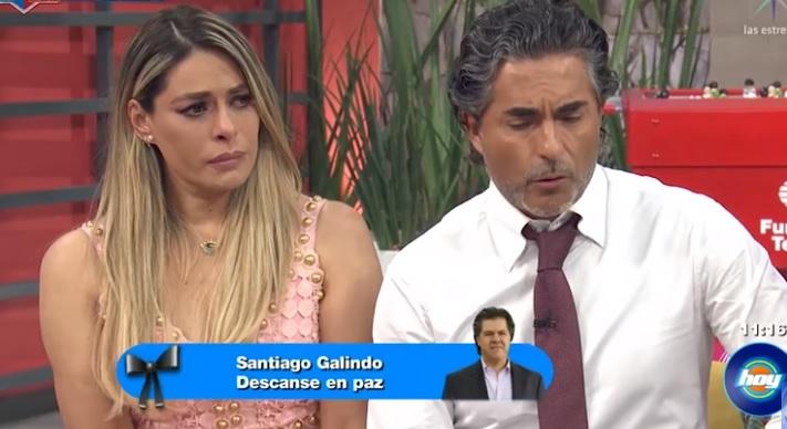 Galilea Montijo rompe en llanto por muerte de productor de Televisa