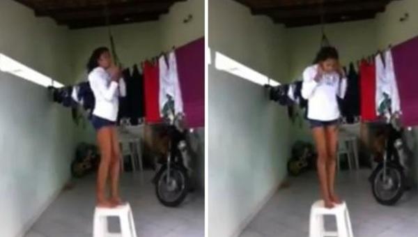 <i>¿Cuelga los tenis?</i> Menor se 'ahorca' en macabro reto viral (VIDEO)