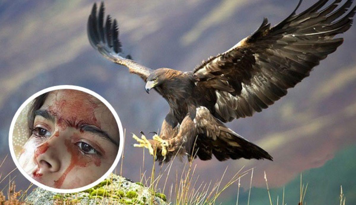 Aguila En La Espalda Ódiame más: captan a águila real intentando cazar a niña de